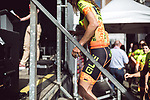 Team presentation of La Fleche Wallonne Femmes 2018 running 118.5km from Huy to Huy, Belgium. 17/04/2018.<br /> Picture: ASO/Thomas Maheux | Cyclefile.<br /> <br /> All photos usage must carry mandatory copyright credit (© Cyclefile | ASO/Thomas Maheux)