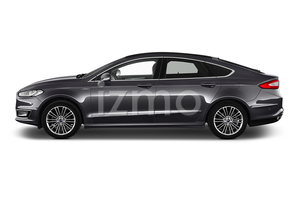 Car Driver side profile view of a 2019 Ford Mondeo Vignale 4 Door Sedan Side View