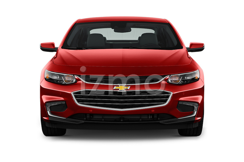 Car photography straight front view of a 2016 Chevrolet Malibu 2LZ 4 Door Sedan Front View