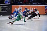 SPEEDSKATING: DORDRECHT: 06-03-2021, ISU World Short Track Speedskating Championships, RF 1500m Men, Liam O'Brien (IRL), ©photo Martin de Jong