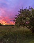 Pretty sunrise over a farmer's field in northern Wisconsin.