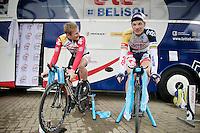 Tour of Belgium 2013.stage 3: iTT..André Greipel (DEU) & Jürgen Roelandts (BEL) relaxing/warming up
