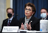 Jovita Carranza, administrator, United States Small Business Administration (SBA), testifies at the US Senate Small Business and Entrepreneurship Hearings to examine implementation of Title I of the CARES Act on Capitol Hill in Washington, DC on Wednesday, June 10, 2020.    <br /> Credit: Kevin Dietsch / Pool via CNP/AdMedia