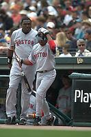 Pedro Martinez and David Ortiz. Boston Red Sox vs San Francisco Giants. San Francisco, CA 6/19/2004 MANDATORY CREDIT: Brad Mangin