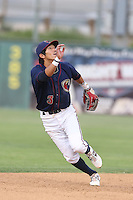 Chan Moon #3 of the Lancaster JetHawks during a game against the Lake Elsinore Storm at The Hanger on August 2, 2014 in Lancaster, California. Lake Elsinore defeated Lancaster, 5-1. (Larry Goren/Four Seam Images)