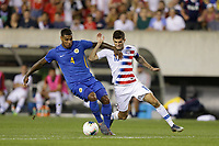 PHILADELPHIA, PENNSYLVANIA - JUNE 30: Darryl Lachman #4, Christian Pulisic #10 during the 2019 CONCACAF Gold Cup quarterfinal match between the United States and Curacao at Lincoln Financial Field on June 30, 2019 in Philadelphia, Pennsylvania.