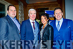 L-R Tom Dennehy, Maurice Costello, Maria Sheehan and Jimmy Keane looking well at the Cordal GAA annual Barbecue in the Ballygarry house hotel, Tralee last Saturday night.