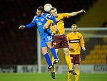 Motherwell v St Johnstone...10.11.10  .Peter MacDonald and Jonathan Page.Picture by Graeme Hart..Copyright Perthshire Picture Agency.Tel: 01738 623350  Mobile: 07990 594431