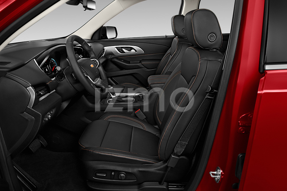 Front seat view of 2020 Chevrolet Traverse Premier 5 Door SUV Front Seat  car photos