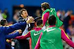 FC Barcelona's coach Luis Enrique Martinez celebrates goal during Spanish Kings Cup Final match. May 22,2016. (ALTERPHOTOS/Acero)