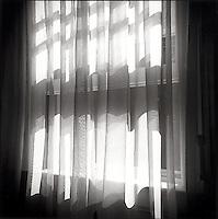 Light through window drapes<br />
