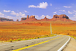 Highway 163 approaching Monument Valley.