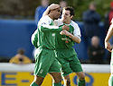 24/02/2007       Copyright Pic: James Stewart.File Name : sct_jspa11_qots_v_hibernian.THOMAS SOWUNMI IS CONGRATULATED BY IVAN SPROULE AFTER HE SCORES HIBS SECOND.....James Stewart Photo Agency 19 Carronlea Drive, Falkirk. FK2 8DN      Vat Reg No. 607 6932 25.Office     : +44 (0)1324 570906     .Mobile   : +44 (0)7721 416997.Fax         : +44 (0)1324 570906.E-mail  :  jim@jspa.co.uk.If you require further information then contact Jim Stewart on any of the numbers above.........