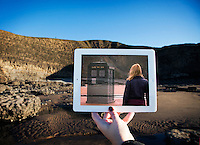 Pictured: Filming of Doctor Who in Dunraven Bay, South Wales with David Tennant and Billie Piper<br />