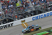 Monster Energy NASCAR Cup Series<br /> Tales of the Turtles 400<br /> Chicagoland Speedway, Joliet, IL USA<br /> Sunday 17 September 2017<br /> Martin Truex Jr, Furniture Row Racing, Furniture Row/Denver Mattress Toyota Camry takes the checkered flag<br /> World Copyright: Logan Whitton<br /> LAT Images