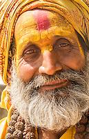 Nepal. Sadu poses for camera in Pashupatinath. Kathmandu.  97