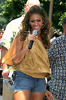 BEYONCE KNOWLES PERFORMS ON  THE  CBS  EARLY SHOW AT CBS  PLAZA IN  NYC 06/27/2003 <br /> Photo By John Barrett/PHOTOlink.net
