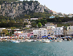 Harbor on the Italian island of Capri.