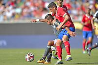 Action photo during the match Costa Rica vs Paraguay, Corresponding Group -A- America Cup Centenary 2016, at Citrus Bowl Stadium<br /> <br /> Foto de accion durante el partido Estados Unidos vs Colombia, Correspondiante al Grupo -A-  de la Copa America Centenario USA 2016 en el Estadio Citrus Bowl, en la foto: (i-d) Jorge Benitez de Paraguay y Johnny Acosta de Costa Rica<br /> <br /> <br /> <br /> 04/06/2016/MEXSPORT/Isaac Ortiz.