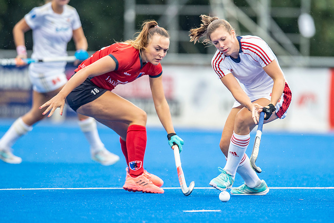 Krefeld, Germany, August 29: During the women semi-final fieldhockey match between Berliner HC and Rot Weiss Koeln on August 29, 2021 at the 1. Liga-Cup at Crefelder HTC in Krefeld, Germany. (Photo by Dirk Markgraf / www.265-images.com) *** Local caption ***