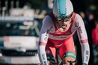 Vasil Kiryienka (BLR/SKY)<br /> <br /> MEN ELITE INDIVIDUAL TIME TRIAL<br /> Hall-Wattens to Innsbruck: 52.5 km<br /> <br /> UCI 2018 Road World Championships<br /> Innsbruck - Tirol / Austria