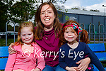 Enjoying the playground in the Listowel town park on Saturday, l to r: Maeve, Cathy and Fiona McGrath.