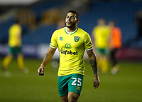 2nd February 2021; The Den, Bermondsey, London, England; English Championship Football, Millwall Football Club versus Norwich City; Onel Hernandez of Norwich City walking off the pitch towards the away tunnel after the final whistle in disappointment