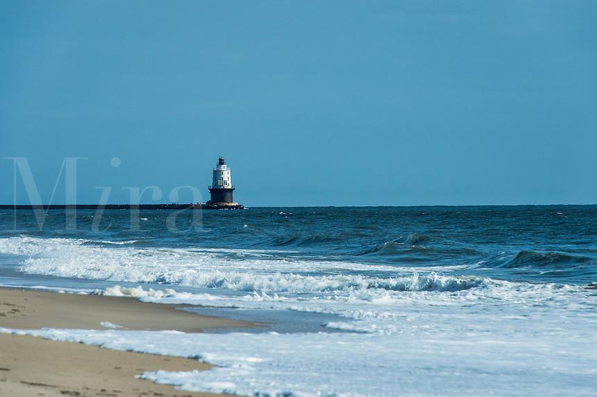 Harbor of Refuge Lighthouse, Cape Henlopen, Lewes, Delaware, USA