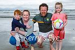 Enjoying the beach in Ballyheigue on Sunday, l to r: Diarmuid, Hannah, Cormac and Emily Flynn from Causeway