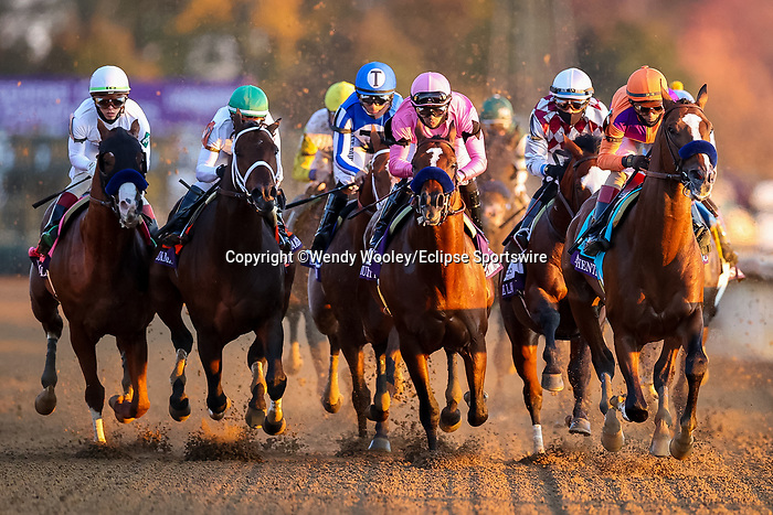 November 7, 2020 : Authentic, ridden by John Velazquez, wins the Longines Classic on Breeders' Cup Championship Saturday at Keeneland Race Course in Lexington, Kentucky on November 7, 2020. Wendy Wooley/Breeders' Cup/Eclipse Sportswire/CSM
