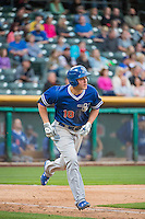 Corey Seager (18) of the Oklahoma City Dodgers at bat against the Salt Lake Bees in Pacific Coast League action at Smith's Ballpark on May 25, 2015 in Salt Lake City, Utah.  (Stephen Smith/Four Seam Images)