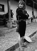 Mann in Chichicastenango im Hochland von Guatemala, 1970er Jahre. A man at Chichicastenango in the highlands of Guatemala, 1970s.