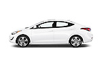 Car Driver side profile view of a 2015 Hyundai Elantra Sport 4 Door Sedan Side View