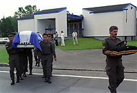 FILE - les funerailles du caporal Lemay, tué le 11 mai durant La crise d'Oka en 1990<br /> <br /> PHOTO  : Publiphoto<br /> -  Agence Quebec Presse