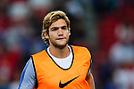 Chelsea Defender Marcos Alonso warming up during the International Champions Cup match between Chelsea FC and FC Bayern Munich at National Stadium on July 25, 2017 in Singapore. Photo by Marcio Rodrigo Machado / Power Sport Images