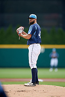 Columbus Clippers starting pitcher Stephen Fife (47) gets ready to deliver a pitch during a game against the Gwinnett Stripers on May 17, 2018 at Huntington Park in Columbus, Ohio.  Gwinnett defeated Columbus 6-0.  (Mike Janes/Four Seam Images)
