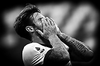 Nahitan Nandez of Cagliari Calcio reacts during the Serie A football match between US Sassuolo and Cagliari Calcio at Mapei Stadium in Reggio Emilia (Italy), September 20th, 2020. Photo Andrea Staccioli / Insidefoto