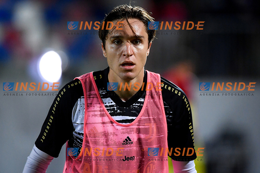 Enrico Chiesa of Juventus FC looks on prior to the Serie A football match between FC Crotone and Juventus FC at stadio Ezio Scida in Crotone (Italy), October 17th, 2020. Photo Federico Tardito / Insidefoto