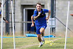 St Johnstone Training...  McDiarmid Park<br />Jason Kerr pictured during training ahead of Saturday's opening league game of the season at Ross County.<br />Picture by Graeme Hart.<br />Copyright Perthshire Picture Agency<br />Tel: 01738 623350  Mobile: 07990 594431