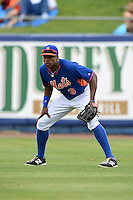 New York Mets outfielder Curtis Granderson (3) during a spring training game against the Washington Nationals on March 27, 2014 at Tradition Field in St. Lucie, Florida.  Washington defeated New York 4-0.  (Mike Janes/Four Seam Images)