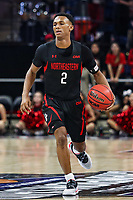 Washington, DC - March 10, 2020: Northeastern Huskies guard Tyson Walker (2) dribbles the ball during the CAA championship game between Hofstra and Northeastern at  Entertainment and Sports Arena in Washington, DC.   (Photo by Elliott Brown/Media Images International)