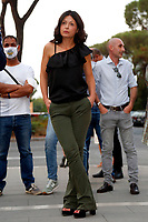 The candidate at the next  capitoline assembly, Luigia Luciani at the Villa Gordiani south-east neighborhood of Rome.<br /> Rome (Italy), September 7th 2021<br /> Photo Samantha Zucchi Insidefoto