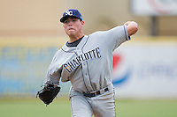Starting pitcher Matthew Moore #36 of the Charlotte Stone Crabs in action against the Jupiter Hammerheads at Roger Dean Stadium June 15, 2010, in Jupiter, Florida.  Photo by Brian Westerholt /  Seam Images