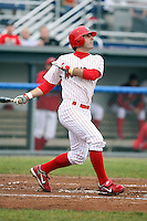 July 5th, 2007:  Dan Descalso of the Batavia Muckdogs, Short-Season Class-A affiliate of the St. Louis Cardinals at Dwyer Stadium in Batavia, NY.  Photo by:  Mike Janes/Four Seam Images