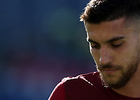 Football, Serie A: AS Roma -  Udinese, Olympic stadium, Rome, February 14, 2021. <br /> Roma's captain Lorenzo Pellegrini reacts during the Italian Serie A football match between Roma and Udinese at Rome's Olympic stadium, on February 14, 2021.  <br /> UPDATE IMAGES PRESS/Isabella Bonotto