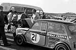 Gordon Spice's 1969 British Touring Car Mini Cooper S at Thruxton in 1969