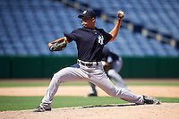 New York Yankees pitcher Justus Sheffield (40) during an Instructional League game against the Philadelphia Phillies on September 27, 2016 at Bright House Field in Clearwater, Florida.  (Mike Janes/Four Seam Images)