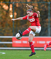 Elien Nelissen  of Standard (15) pictured during a female soccer game between Standard Femina de Liege and Club Brugge YLA on the seventh matchday of the 2020 - 2021 season of Belgian Scooore Womens Super League , saturday 14 th of November 2020  in Angleur , Belgium . PHOTO SPORTPIX.BE | SPP | DAVID CATRY