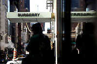 NEW YORK, NEW YORK - MARCH 12: View of Burberry store on March 12, 2021 in New York. Burberry expects full-year profits to beat market forecasts after a rebound in sales in the fourth quarter, sending its shares more than 6% higher. (Photo by Emaz/VIEWpress)