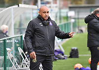 Assistant Coach Miguel Atilio (Anderlecht) pictured during a female soccer game between Club Brugge Dames YLA and RSC Anderlecht Ladies on the fifth matchday of the 2020 - 2021 season of Belgian Scooore Womens Super League , sunday 18 October 2020  in Brugge , Belgium . PHOTO SPORTPIX.BE | SPP | DAVID CATRY